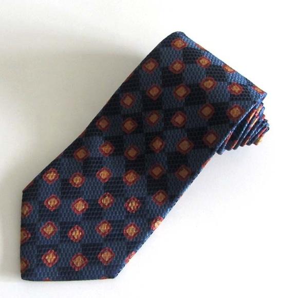 e63e05fa Ermenegildo Zegna blue square-print silk tie Italy